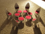 Richard Odom - Chairs and Footstools (made from toilet paper rolls)